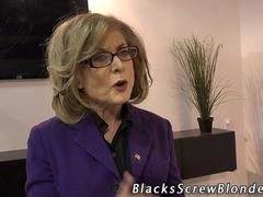 Granny cock juice mouthed black
