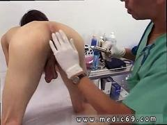Nice-looking twink has his prostate examed, and love pole jerked off