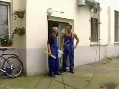 Workers Double drilling Huge Jugs Housewife