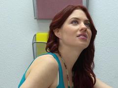 Hot redheaded student slut having an intercourse explicit in class