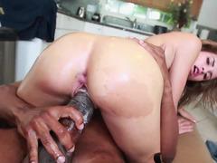 Huge black knob has an intercourse lascivious Natasha White until she cums