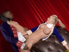 Interracial sexual action on the stage as a surprise