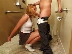 Blonde schoolgirl fucked by the janitors