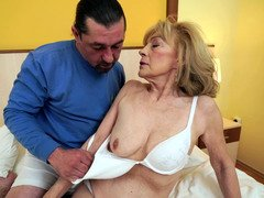 Smoking hot mature makes love with her swain