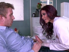 Hot doctor Monique Alexander banged by a gigantic phallus