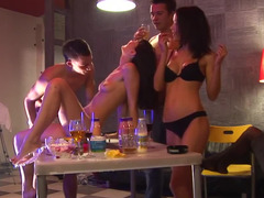 Drunk buddies get down and dirty hard absolutely all chicks that came to that crazy party