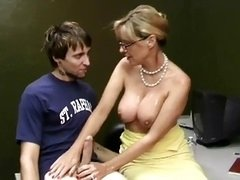 mature female milks his cock WF