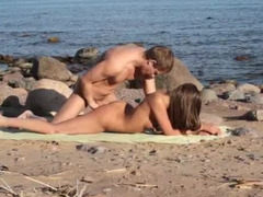 They spent a smoking hot day at the beach having some intimate fun