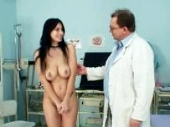 Czech sizeable breasts broad Roxy Taggart medical exam by daddy doctor
