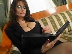 Old Boobalicious Secretary Sex