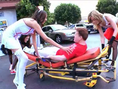Dude called ambulance and received some special sexual functions