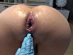 Fisting, deep fisting, gaping, gap, pretty nurse