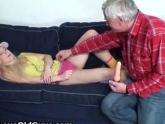 Dirty teen blonde gets groped