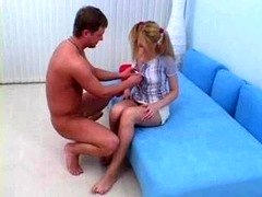 Teen In Pigtails Gets Ana...