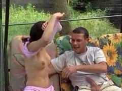 Turkish legal teen Girl Outdoor Get down and dirty