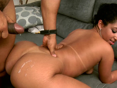 Big ass Brazilian slut fucked in her slick and sexy pussy