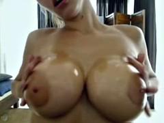 Dildo between big titties - Add her on snapcht: RubySuce