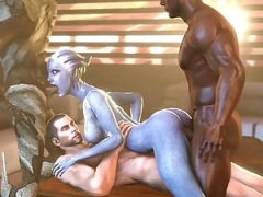 Hooters and moreover tooshie Liara T'soni getting fucked hard