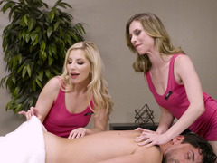 A duo sexy girls are masseuses but perform like dirty hoes