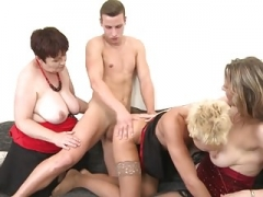 Taboo group sex with mothers & granny