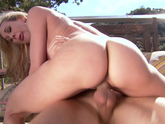Making lusty love to a hot soccer mom adult video star on his deck