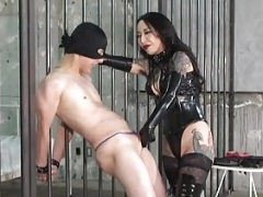 CBT Boots and besides Purple rod Slapping Domina