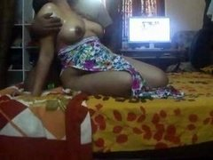 Indian housewife Sonny tits exposed with hot oil massage wow