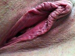 Newbie Wife Good-looking Pussy Open Gape Sizeable Labia Clitoris Cum