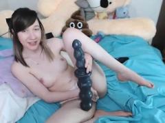 Brunette 18-19 y.o. shows her backdoor solo shenanigans 4 mp4