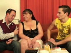 Milk sacks mommy threesome getting down and dirty