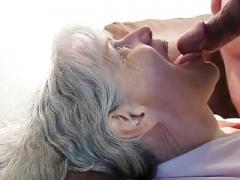 Granny Gives blowjob Him Dry