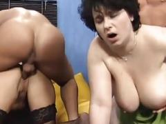 Big titty group sex