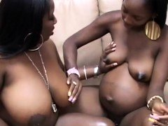 Bbw with pregnant ebony