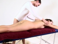 Love hole of Nikita rubbed in a lesbian massage