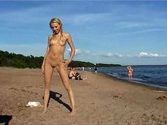 Nudist with her vulva hanging out really nudist video