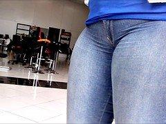 Jeans atolado na buceta 2