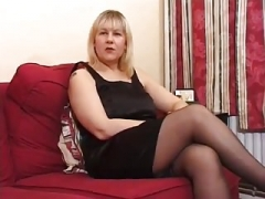 Melons Aged UK Blonde Does Anal