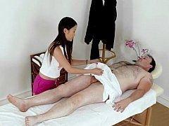 Asiatique, Chinoise, Poupée, Massage, Chatte, Chevaucher