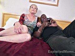 Breasty Granny in Genital cumshot Video