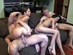 18 Videoz - Ideal double date with swinger sex