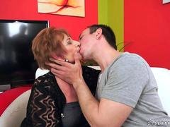 Granny licking her lovers asshole