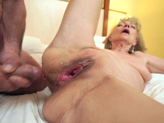 Beautiful mature makes love with her swain