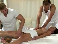 Massage adult model gives blowjob phallus while fucked and cant get enough