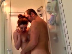 daddy and additionally daughter shower together