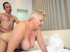 Fat granny needed some fresh meat and found appropriate man