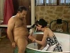 Aged Dude Gets down and dirty His Maid !