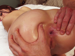 A chick is rammed anally in the reverse cowgirl position