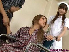 Fuck pole hungry asian sluts giving blowjob getting down and dirty part5