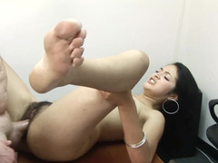 A delicious Latina with a hairy pussy is getting rammed