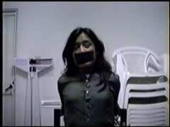 Trussed, ball-ball-ball-gagged and muffled
